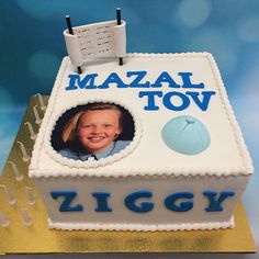 Bar mitzvah cake for Ziggy #barmitzvah #barmi #photo #edibleimage #torah #kippah #birthdaycake #13 #mazaltov #mazeltov #kosher #nutfree #dairyfree #evedeso #eventdesignsource - posted by Bake My Day https://www.instagram.com/bake_my_day_melbourne. See more Bar-Mitzvah Designs at http://Evedeso.com