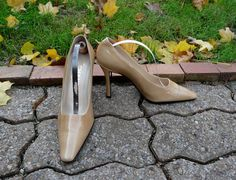 #Chanel #CocoChanel #luxury #heels #shoes #vintage #lagelle #pittsburgh #fashion #style #etsy Authentic Vintage CHANEL classic beige nude CC logo by Lagelle, $275.00 https://www.etsy.com/listing/179212028/authentic-vintage-chanel-classic-beige?ref=shop_home_active_1