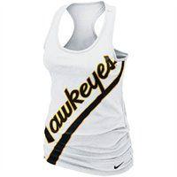 Nike Iowa Hawkeyes Ladies Slanted Boyfriend Tank Top