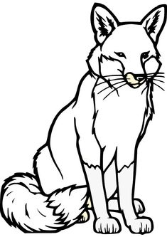Fox Drawing | Fox Coloring Pages