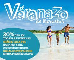 Reserve ya sus próximas vacaciones y aprovéchese del DESCUENTAZO: un 20% menos en su reserva y, además, los niños GRATIS. Periodo de reserva: 01/05/2014 - 30/06/2014 (ambos inclusive)