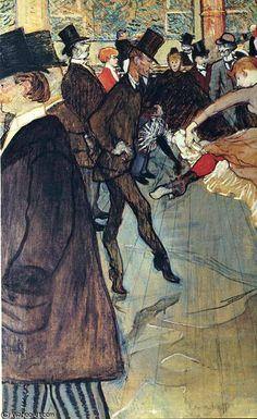 by Henri De TOULOUSE LAUTREC (1864-1901, France)