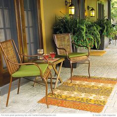 Kick back and enjoy your garden | Garden Gate eNotes | Seating for two | Create a cozy spot perfect for a pair to relax anywhere in the garden with these 4 favorite ideas.