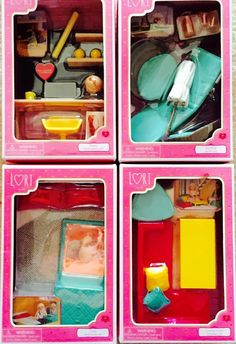 "Our Generation Lori Loft Dollhouse Furniture Sets Lot for 6"" Mini Dolls #DollHouses"