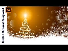 Illustrator Tutorial - How to draw a Christmas Background - YouTube