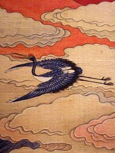 The Ten Symbols of Longevity Korea Late Joseon Period century CE folding silk screen Korean Painting, Japanese Painting, Japanese Art, Tibetan Art, Eugene Oregon, University Of Oregon, Korean Art, Inside Design, Traditional Paintings