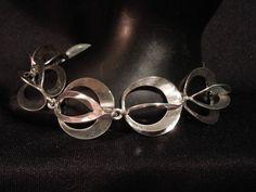Vintage Danish modern sterling dimensional link bracelet by N.E. From.