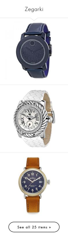 """""""Zegarki"""" by mborzecka ❤ liked on Polyvore featuring jewelry, watches, dial watches, navy watches, pre owned watches, movado wrist watch, movado watches, cabochon jewelry, water resistant watches and unisex jewelry"""
