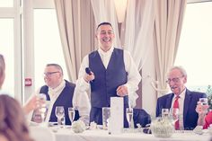 Best man's speech from top table at Sandbanks Hotel Wedding. Photography by one thousand words wedding photographers