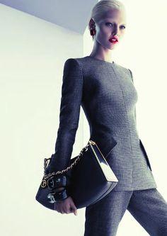 Giorgio Armani (accessories)  Model: Sasha Pivovarova  Photographer: Mert Alas & Marcus Piggott