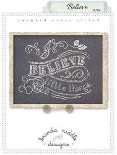 Believe - Cross Stitch Pattern