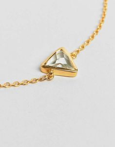 Carrie Elizabeth Semi Precious Green Amethyst Triangle Bracelet