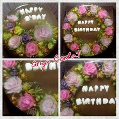 #jellyart #rose #carnation #chocolate #bday