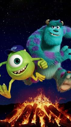 Pin by maria josse gómez on disney in 2019 Disney Pixar Movies, Cartoon Movies, Disney Cartoons, Disney Art, Monsters Inc Characters, Monsters Ink, Cartoon Monsters, Wallpaper Animes, Cartoon Wallpaper
