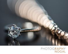 - Diamond Ring and Wedding Bracelet: I love photographing the little details at weddings. This engagement ring and bracelet combo was photographed with a very shallow depth of field on purpose. I wanted to show the unique bokeh created&nbsp,by the bracelet.