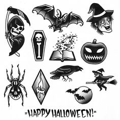 Best Halloween Tattoo Designs And Ideas Hi Here we have nice wallpaper about flash tattoo designs. We hope these photos can be your live. Flash Art Tattoos, 13 Tattoos, Mini Tattoos, Halloween Tattoo Flash, Ghost Tattoo, Spider Tattoo, Costume Halloween, Tattoo Sketches, Tattoo Drawings