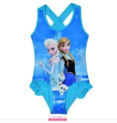 Traje de baño para niñas Frozen Elsa y Anna