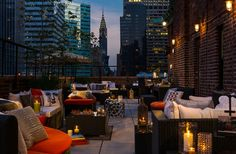 New York --- Rooftop Bars to check out: Haven Rooftop at the Sanctuary Hotel 132 W. St (and ave) Gallow Green at the McKittrick Hotel 530 W. and ave) Renaissance New York Hotel 57 - 130 East St. at Lexington New York Restaurants, New York Hotels, Haven Rooftop, New York City, Hotel Boutique, Deco Restaurant, Luxury Restaurant, Voyage New York, Renaissance Hotel