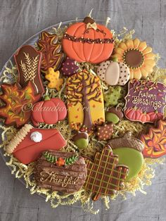 Sugar cookies, not just for Christmas. These pretty treats would be fun on the Thanksgiving dessert table