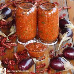 """5,961 Beğenme, 65 Yorum - Instagram'da yemek sunum tarif sayfası (@tencereyemegim): """"👏👏👏👉 @muhallebinindibi -  Elbette yeniden tatlı yapmaya başlayacağız. Ama önce kış hazırlıklarımızı…"""" Jar, Fish, Vegetables, Instagram, Sauces, Dips, Veggies, Vegetable Recipes, Gravy"""