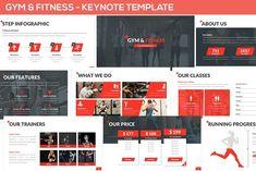 Gym & Fitness - Keynote Template by SlideFactory on Envato Elements Keynote Presentation, Presentation Design Template, Design Templates, Free Ppt Template, Keynote Template, Finance, Keynote Design, Gantt Chart, Envato Elements