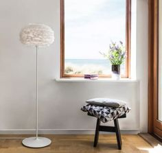 VITA Copenhagen Eos Floor Lamp with Goose Feather Shade.