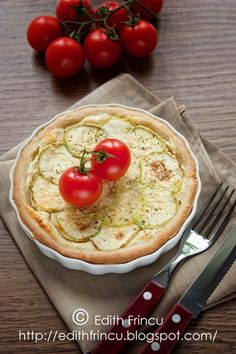 Zucchini and Cheese Tart. Zucchini and cheese tart Cheese Tarts, Camembert Cheese, Milk Recipes, Cooking Recipes, Quiche, Hummus, Zucchini, Dairy, Food And Drink