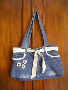 un sac en jean customis th citron cr ations th. Black Bedroom Furniture Sets. Home Design Ideas