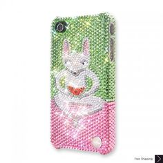 Watermelon Lemur Bling Swarovski Crystal iPhone 5 Case