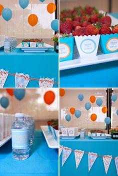 orange & blue tigger theme