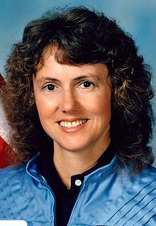 Christa McAuliffe (1948-1986) NASA Teacher in Space Project participant, one of seven crew members killed in the Space Shuttle Challengre disaster.