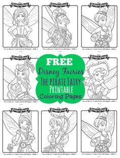 Disney Fairies The Pirate Fairy Free Printable Coloring Pages - Grab A Box Of Crayons - Free Disney Fairies printable coloring pages featuring Zarina, Silvermist, Tinkerbell, Rosetta, Vidia, Fawn and Iradessa.