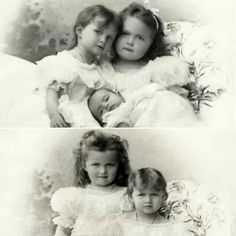 Grand Duchesses Olga, Tatiana, and Maria Nikolaevna, 1899.
