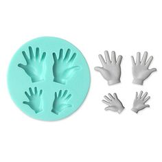 Hand Shape Silicone Mould Cake Decorating Baking Tool – USD $ 6.99