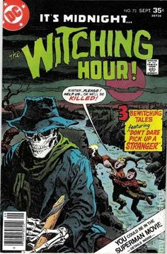 A cover gallery for the comic book Witching Hour Scary Comics, Sci Fi Comics, Comics Story, Horror Comics, Horror Art, Dc Comic Books, Comic Book Covers, Comic Art, Ghost Comic