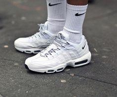 28a1b5ec90de Nike Air Max 95 White Black OG QS Running Shoes