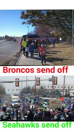 The 12th Man! We are so amazing!! I looked up a news feed - and it is true. Seahawks fans were out in numbers for the send-off. WOW