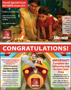 Siliconeer :: SEPTEMBER 2014   The #1 Monthly Magazine for Indian Americans in U.S.
