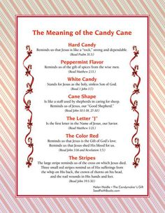 legend of candy cane printable | Free bookmark printables ...