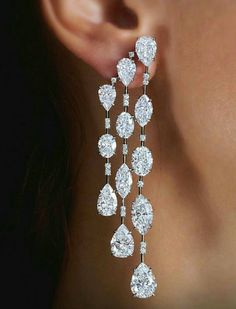 GABRIELLE'S AMAZING FANTASY CLOSET | Diamond Cascade Earrings #DiamondEarrings
