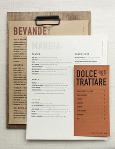 Rustic Clipboard Menus for Bar Culaccino  |  Utility House Design Co.