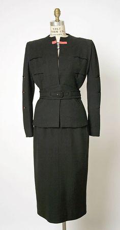 Suit  Gilbert Adrian (American, 1903–1959)  Date: 1940s
