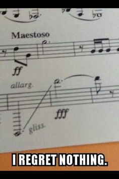 Clarinet problems :/ <----- Can a clarinet even play a note that low? I've never seen that one in the book before.<--- I think glissandos are only for trombones. Bass trombone in that particular piece, I'm guessing. Band Nerd, Basson, Marching Band Memes, Marching Band Problems, Music Jokes, Funny Music, Band Jokes, Love Band, Jokes