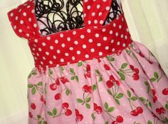 Toddler Girl Boutique Pinnafore Apron Style Tie in by FrivolTees, $22.00