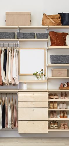 Easy, custom closet shelving solutions for every shape, size, and budget. Brighten up your space with decorative shelving solutions.