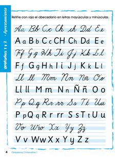 Cursive Alphabet Discover by Alejandra Arrubla via Slideshare Cursive Fonts Alphabet, Cursive Handwriting Practice, Teaching Cursive, Cursive Writing Worksheets, Handwriting Styles, Writing Fonts, Hand Lettering Fonts, Calligraphy Handwriting, Creative Lettering