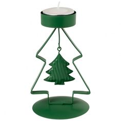 Winter Bakery 2017 Teelichthalter Baum grün 8x12x7cm - Villeroy & Boch