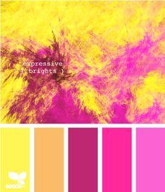 expressive brights - another fun party palette Colour Pallette, Colour Schemes, Color Patterns, Color Combos, Pink Palette, Bright Colour Palette, Purple Color Palettes, Deco Pastel, Design Seeds