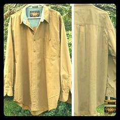Mens Shirt, Ralph Lauren Mens Shirt, Ralph Lauren,  khaki,  button down with one front buttoned pocket, 100% cotton , price firm Ralph Lauren Other