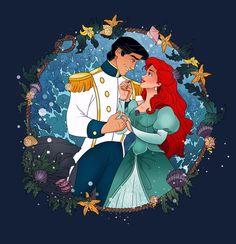 Magical Moment: Ariel and Eric by Grodansnagel.deviantart.com on @DeviantArt